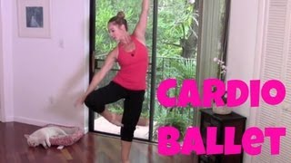 Barre - Free Full Length 30-Minute Cardio Ballet Workout (fat burning barre workout) by jessicasmithtv