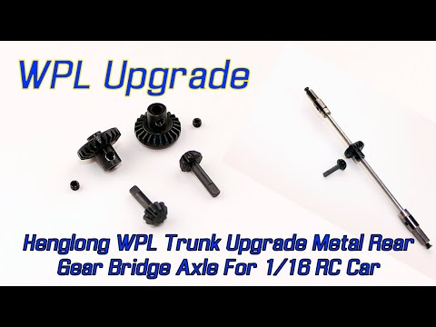 Henglong WPL Trunk Upgrade Metal Rear Gear Bridge Axle For 1/16 RC Car
