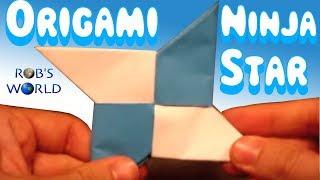 How To Make An Origami Ninja Star Shuriken