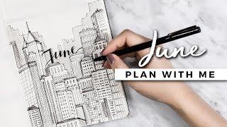 PLAN WITH ME | June 2017 Bullet Journal Setup