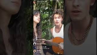 Shawn Mendes and Camila Cabello singingSeñoritalive on inst...