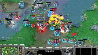 【铁头牛牛杯6V6】魔兽争霸大帝解说 高潮组合 Vs WAR3名人堂 4