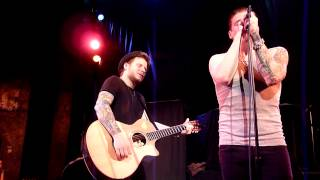 "Shinedown Brent Smith and Zach Myers performing ""Shed Some Light"" acoustic at the Hometown Throwdown"