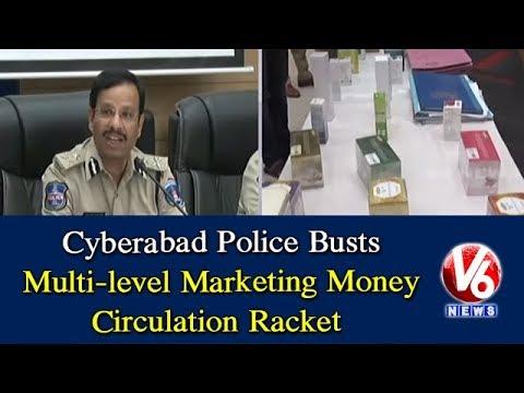 Cyberabad Police Busts Multi-level Marketing Money Circulation Racket   Hyderabad   V6 News