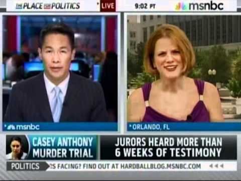 Meg Strickler on MSNBC on July 5, 2011, discussing Casey anthony trial on the day of the verdict