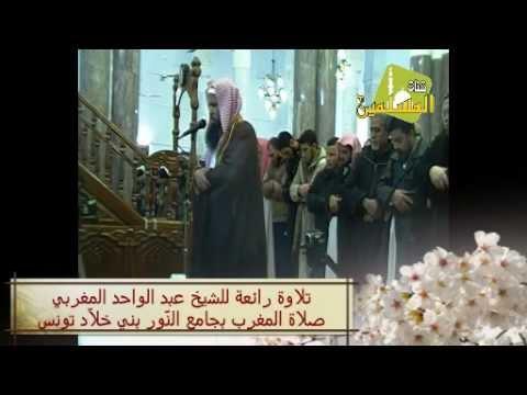 تلاوة رائعة للشيخ عبد الواحد المغربي