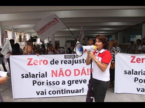 Intersindical e Bancários participam de ato da greve dos professores, em SV