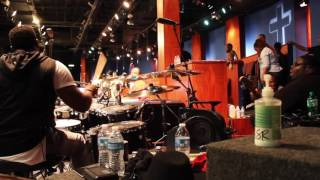 (Part 1)Garrison Brown on drums & City of Refuge band playing for Deon Kipping