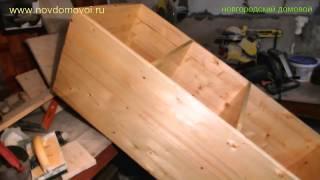 Смотреть онлайн Как сделать шкаф из мебельных щитов