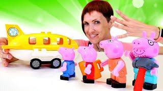 Свинка Пеппа летит на море - Детское видео и Маша Капуки Кануки. Конструктор для малышей