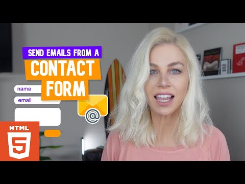 Send emails from a HTML Contact Form