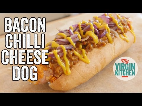BACON CHEESE CHILLI DOG