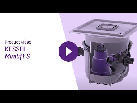 Minilift S til indvendig installation m/dæksel til betongulv