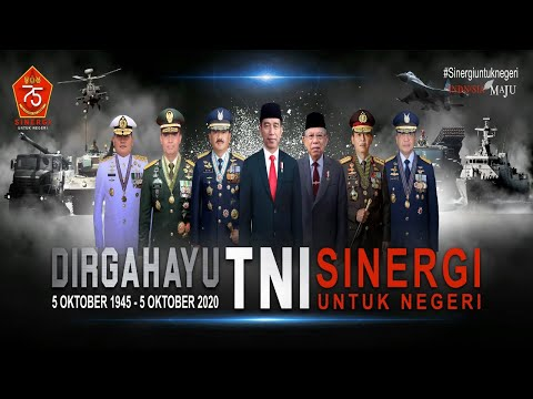 UPACARA VIRTUAL HUT TNI KE 75