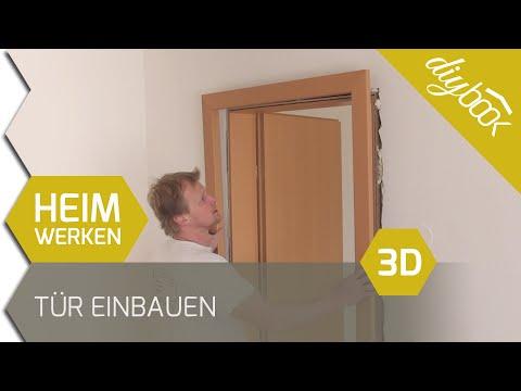 Tür einbauen / Zarge einbauen - 3D