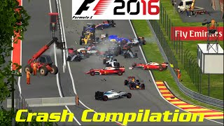 F1 2016 Game - Crash Compilation