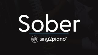 Sober (Piano Karaoke Instrumental) Demi Lovato