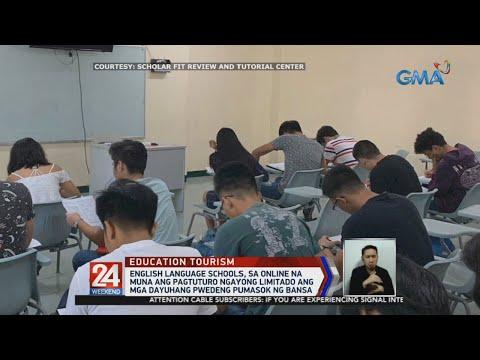 [GMA]  24 Oras: English language schools, sa online na muna ang pagtuturo ngayong limitado ang mga…