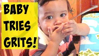 BABY TRIES GRITS FOR THE FIRST TIME! || IT'S MY BIRTHDAY!