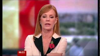 Marg Helgenberger on BBC Breakfast (03/11/11)