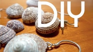DIY Simple Shell Earrings