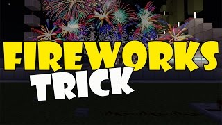 FIREWORKS TRICK | Minecraft PE (Pocket Edition) MCPE Command Block Trick