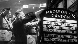США швидко озброюється, Рузвельт та маневри, нацисти та комуністи святкують в Нью-Йорку (лютий 1939)