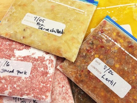 Freeze Food Flat For Easy Storage And Defrosting