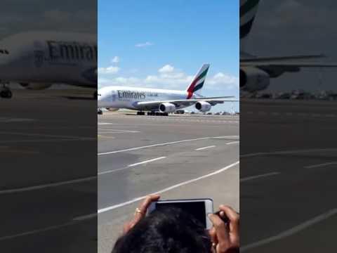 Arrivée du premier Airbus A380 à l'aéroport Casablanca Mohammed V
