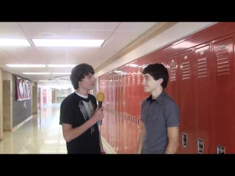 A show where high school students are interviewed why they are in the hallway