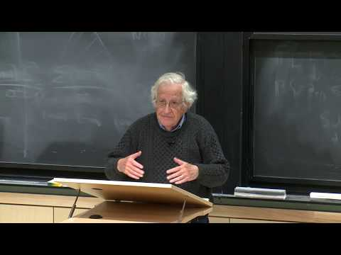 Noam Chomsky, Fundamental Issues in Linguistics (April 2019 at MIT) - Lecture 1