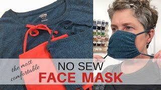 DIY Face Mask   NO SEW   Upcycled Tshirt   5 Minutes