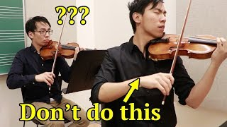 How NOT to be a Concertmaster