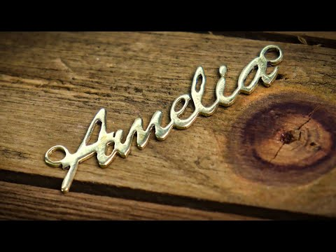 Easy Way to Hand Cut & Design A Name Necklace