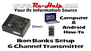 Ikon Gyro Bank Setup For 6 Channel Transmitters