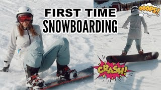 Snowboarding For The FIRST TIME | Vlog