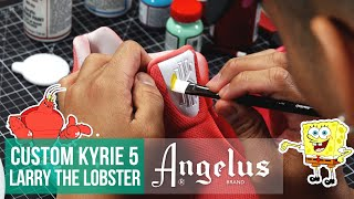 DIY Kyrie x SpongeBob Collection | Custom Larry the Lobster Kyrie 5 | Angelus Paints