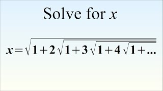 How To Solve This Crazy Equation. Ramanujan's Radical Brain Teaser