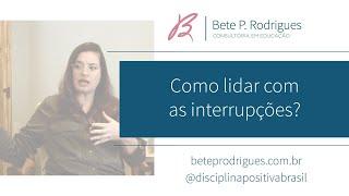 Como lidar com as interrupções