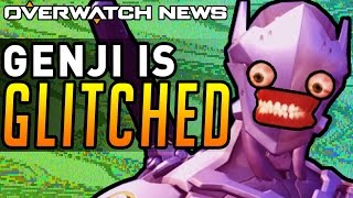 Overwatch - INSANE GENJI GLITCHES! COMPETITIVE has BUGS!