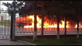 Возгорание бензовоза в Ташкенте