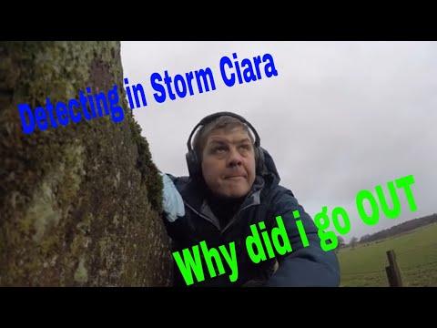Metal Detecting in Storm Ciara