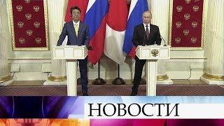 Решение по мирному договору должно быть приемлемо для народов России и Японии, заявил В.Путин.