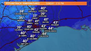 Houston Forecast: Rain will change to snow for Houston's northern counties Sunday