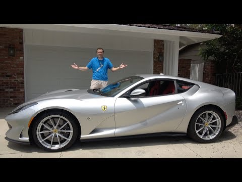 Doug Demuro Kneels In Front Of Ferrari 812 Superfast Then Gives It A Spanking Autoevolution