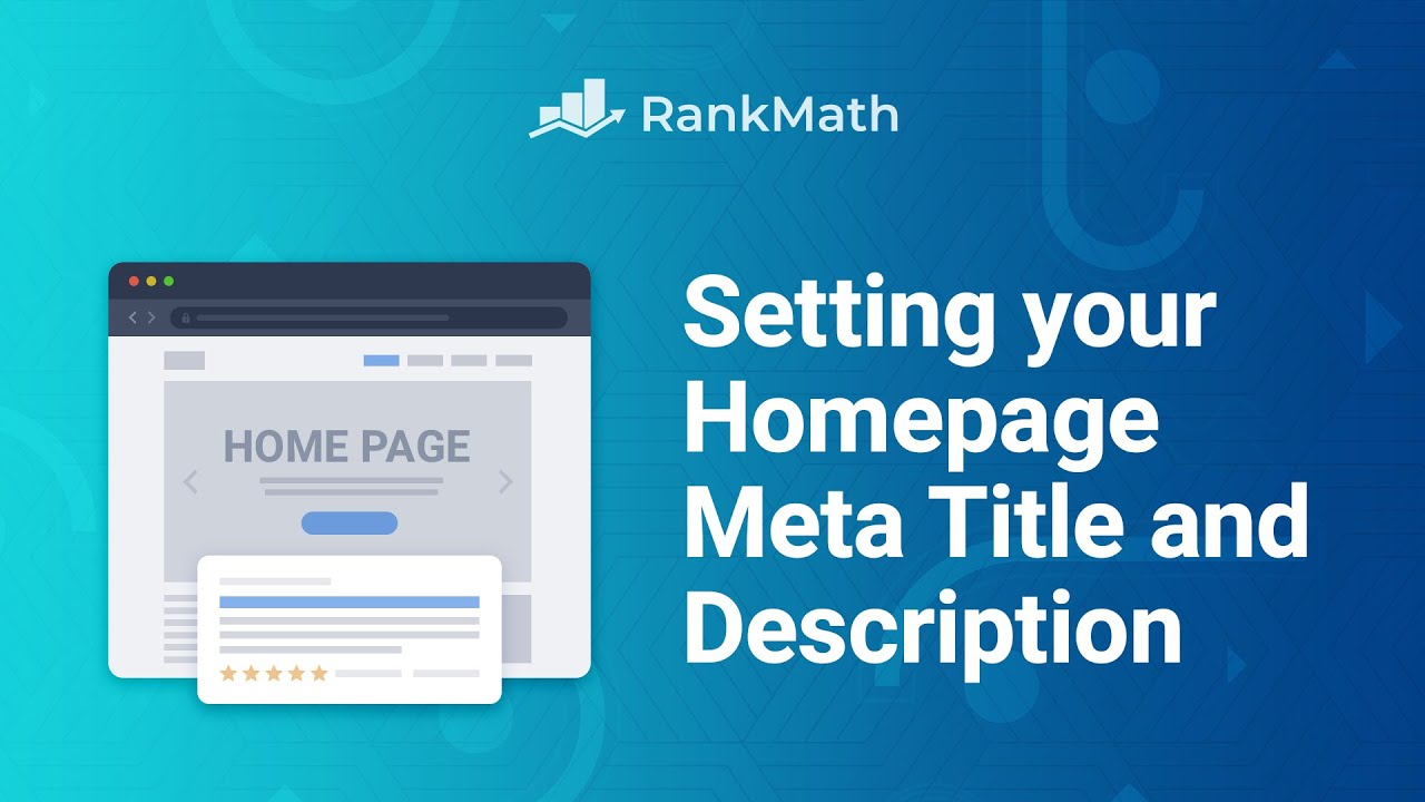How to Change Your Homepage's Meta Title and Description - Rank Math SEO