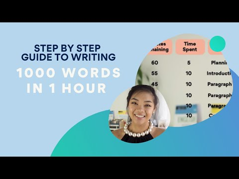 How to write a 1000 word essay in 1 hour and YOU CAN TOO!
