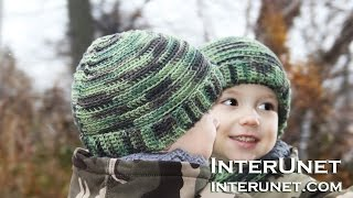 How to crochet a camo hat for a child