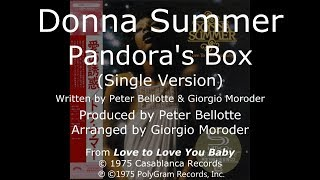 "Donna Summer - Pandora's Box (Single Version) LYRICS - SHM ""Love to Love You, Baby"" 1975"