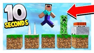 ONLY 10 SECONDS TO BEAT THIS MINECRAFT MAP! (IMPOSSIBLE CHALLENGE)